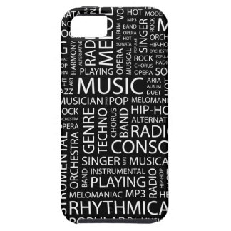 MUSIC pattern word cloud iPhone 5 Cases