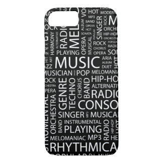 MUSIC pattern word cloud iPhone 8/7 Case