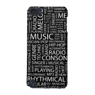 MUSIC pattern word cloud iPod Touch 5G Case