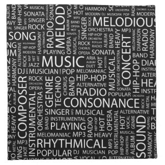 MUSIC pattern word cloud Napkin