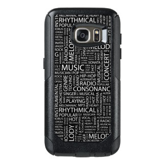 MUSIC pattern word cloud OtterBox Samsung Galaxy S7 Case