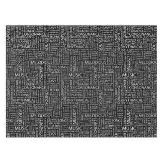 MUSIC pattern word cloud Tablecloth