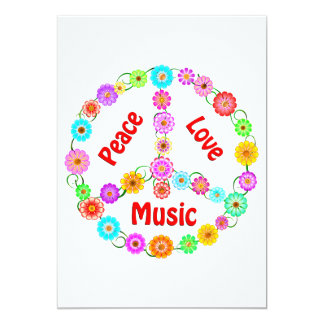 Music Peace Love Card