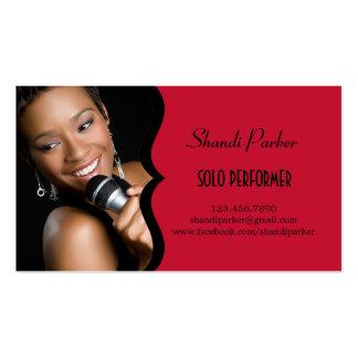 Music Performer Elegant Photo Business Card