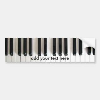 music piano bumper sticker
