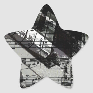 music, piano decor (10) star sticker