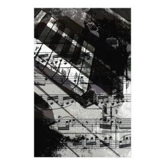 music, piano decor (10) customized stationery