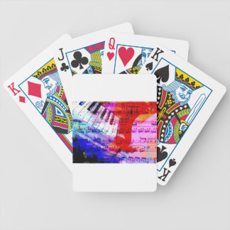 music, piano decor (11) bicycle playing cards