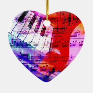 music, piano decor (11) ceramic heart decoration