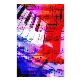 music, piano decor (11) custom stationery