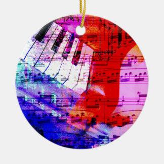 music, piano decor (11) round ceramic decoration