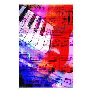 music, piano decor (11) customised stationery