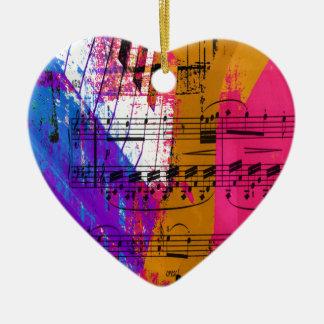 music, piano decor (12) ceramic heart decoration