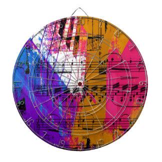 music, piano decor (12) dartboard