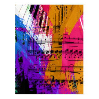 music, piano decor (12) postcard