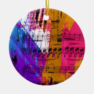 music, piano decor (12) round ceramic decoration