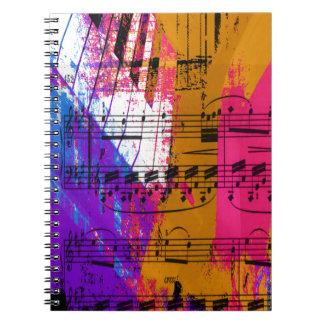 music, piano decor (12) spiral note book
