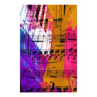 music, piano decor (12) personalised stationery