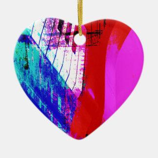music, piano decor (13) ceramic heart decoration