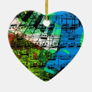 music, piano decor (14) ceramic heart decoration