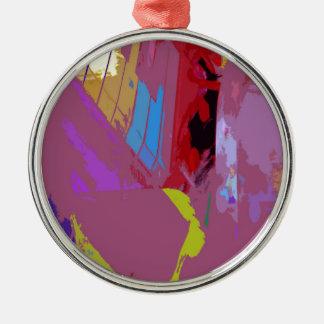 music, piano decor (17) Silver-Colored round decoration