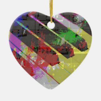 music, piano decor (1) ceramic heart decoration