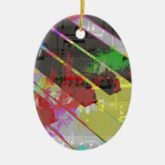 music, piano decor (1) christmas ornament