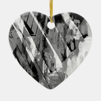 music, piano decor (20) ceramic heart decoration
