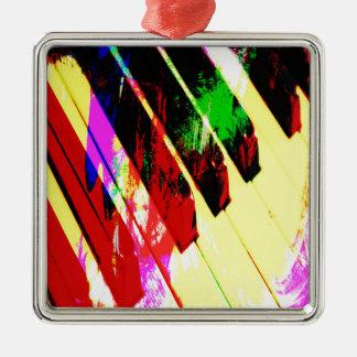 music, piano decor (21) Silver-Colored square decoration