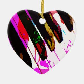 music, piano decor (23) ceramic heart decoration