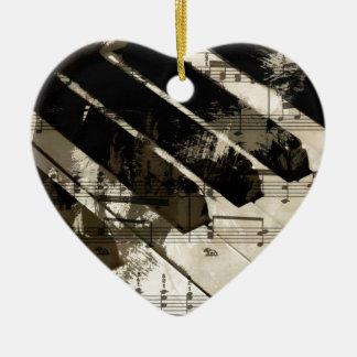 music, piano decor (2).jpg ceramic heart decoration