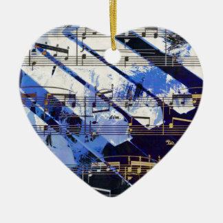 music, piano decor (3) ceramic heart decoration