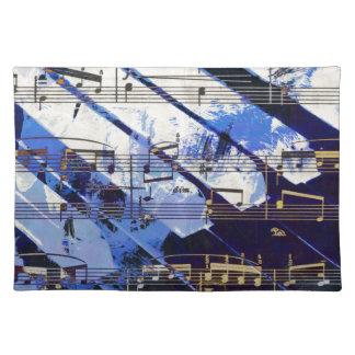 music, piano decor (3) place mats