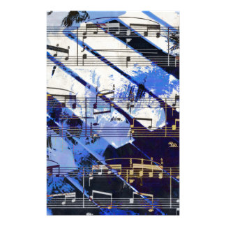 music, piano decor (3) stationery