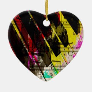 music, piano decor (4) ceramic heart decoration