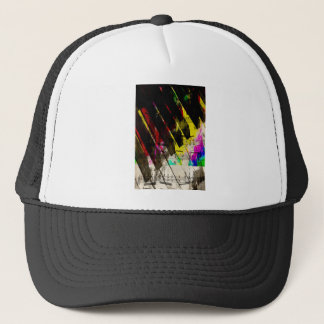 music, piano decor (4) trucker hat