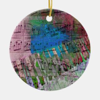 music, piano decor (6) round ceramic decoration