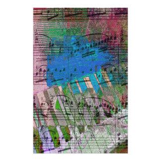 music, piano decor (6) stationery