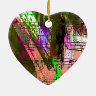 music, piano decor (8) ceramic heart decoration