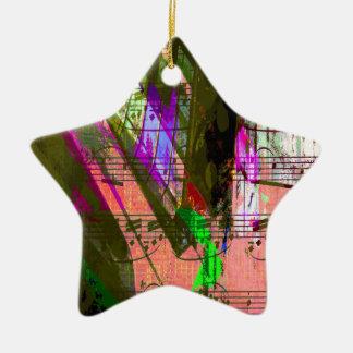 music, piano decor (8) ceramic star decoration