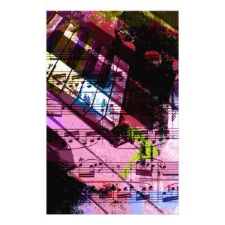 music, piano decor (9) stationery paper