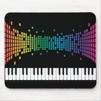 Music piano instrumental keyboard multicolored mouse mat