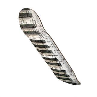 music piano keyboard black and white 20 cm skateboard deck