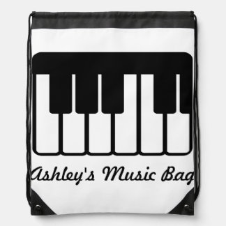 Music Piano Keyboard Drawstring Backpack