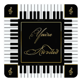 MUSIC (PIANO KEYBOARD) INVITATION