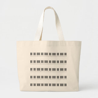 Music: Piano Keyboard Pattern Large Tote Bag