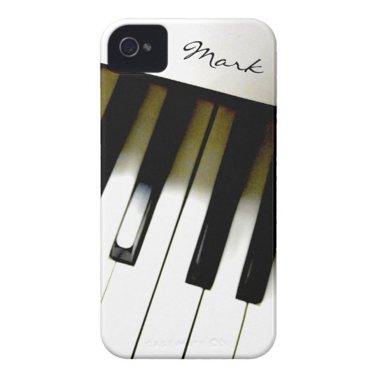 Music Piano Keyboard Personalised iPhone 4 Cases