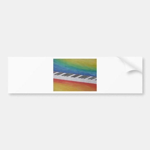 Music Piano Keys Notes Teacher Destiny Instruments Bumper Sticker