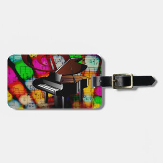Music Piano Keys Notes Teacher Destiny Instruments Luggage Tag