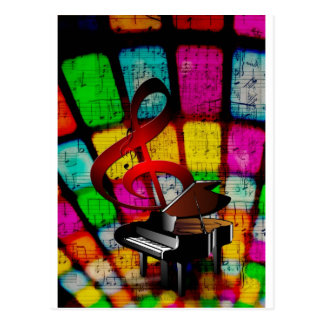 Music Piano Keys Notes Teacher Destiny Instruments Postcard